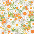 Seamless Colorful Floral Pattern - 159231253
