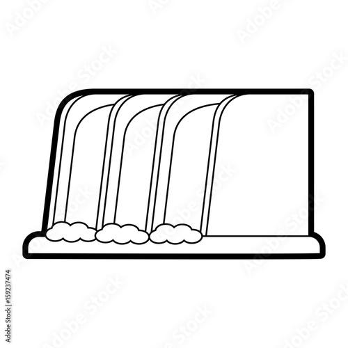 waterfall cartoon silhouette illustration icon vector design graphic - 159237474