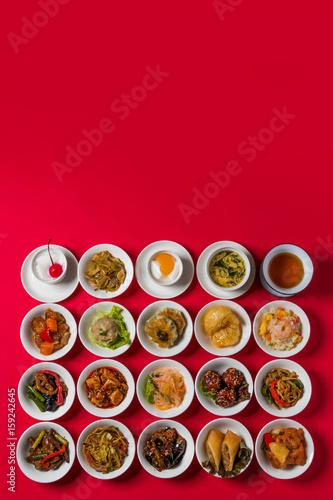 中華料理いろいろ Group picture of Chinese cuisine Poster