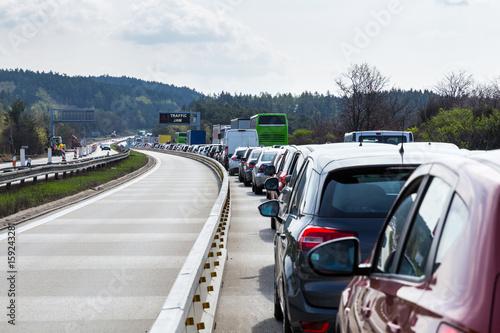 Plakat Cars on highway in traffic jam