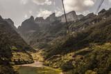 Cable car at Tianmen mountain in Zhangjiajie, China