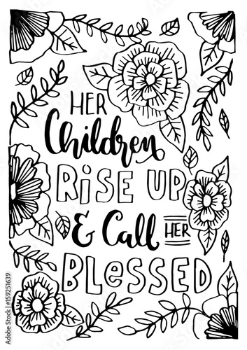 jej-dzieci-powstaja-i-nazywaja-ja-blogoslawiona-z-kwiatowym-doodle-na-bialym-tle-cytat-biblijny-napis-na-strony-chrzescijanskiego-plakatu-nowoczesna-kaligrafia