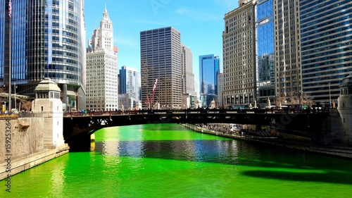 Deurstickers Chicago St. Patrick