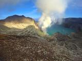 Kawah Ijen, volcanic lake in East Java, Indonesia