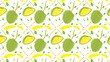 Durian pattern background,Vector illustration for cute design,Stylish decorative label.  - 159266228