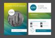 Modern brochure template flyer design vector template