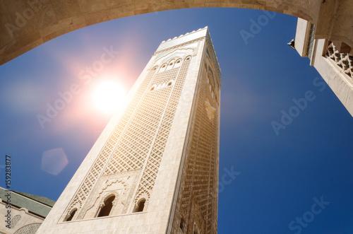 Moschee Hassan zweite in Casablanca Poster
