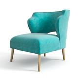 Armchair isolated on white background 3D rendering - 159288079
