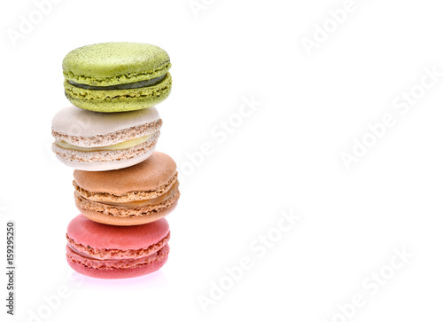 Macarons on white background Poster