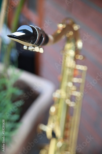 close-up of a saxophone player Poster