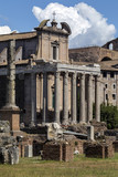 Temple of Antoninus and Faustina - Roman Forum - Rome - Italy poster