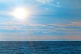 seascape with sun,sea and sky