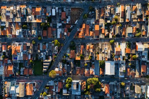 Top View of Itaquera District in Sao Paulo, Brazil