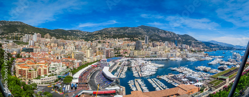 Fotobehang F1 Monaco F1 Panorama HDRLook