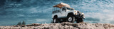 safari car on offroad ,adventure trail