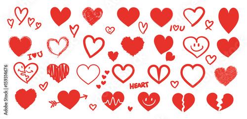 Verschiedene rote Herzen
