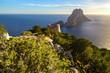 Savinar Tower and Es Vedra island, Ibiza, Spain