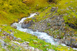 Little stream in mountains, Norway. - 159323219