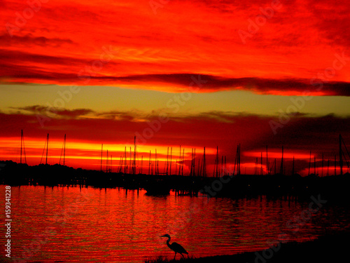 Foto op Canvas Rood sunset