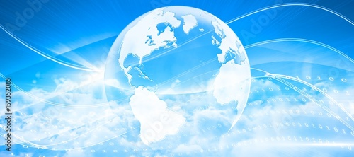 Composite image of idyllic view of white cloudscape against sky