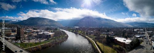 Foto op Plexiglas Panoramafoto s Sunny River Pano
