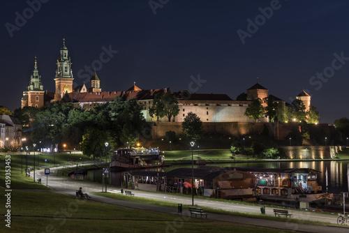 Royal castle of the Polish kings on the Wawel hill in Krakow