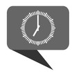 Time flat design web bubble vector icon.