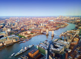 Fototapeta Londyn - London city, aerial view, United Kingdom © Ioan Panaite