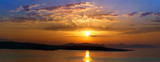 Sunrise above the Peloponnesse: view from Spetses island