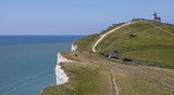 The Belle Tout Lighthouse and Chalk Cliffs in the UK