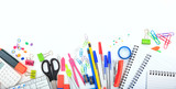 Office - school supplies on white background - 159376822