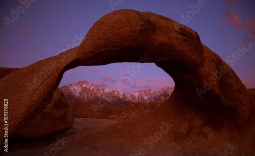 Foto op Canvas Bruin Mobius Arch - Lone Pine CA