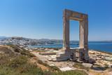 Landscape of Portara, Apollo Temple Entrance, Naxos Island, Cyclades, Greece - 159385496