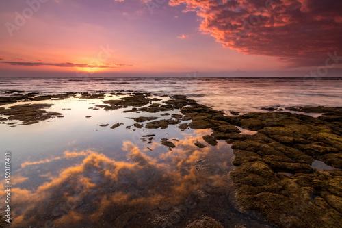 Foto op Canvas Bordeaux sunset