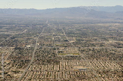 Fotobehang Las Vegas urbanization of natural environment