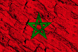 Morocco flag grunge background. Background for design in country flag