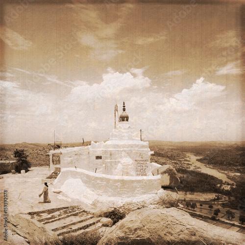 India - Hampi / Hanuman hill (Old photo effect)