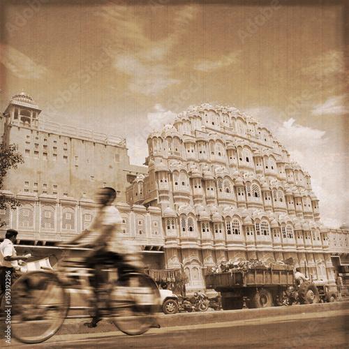 India - Jaipur / Hawa mahal (Old photo effect)