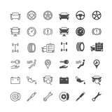Auto service icons, included normal and enable state.