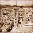Quadro Campanile di Giotto / Italie - Florence (Effet vintage)