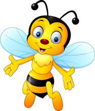 Cartoon Happy Bee    Sticker