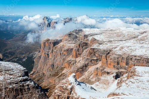 Fotobehang Pool mountains Sella Ronda Dolomites Italy