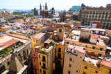 Old city from Santa Maria del mar. Barcelona