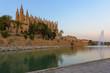 Cathedral of Palma de Mallorca seen from Parc de la Mar, Spain