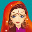 Avatar Girl With Indian Makeup