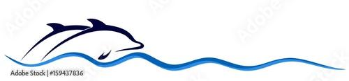 Fototapeta Logo of dolphins.