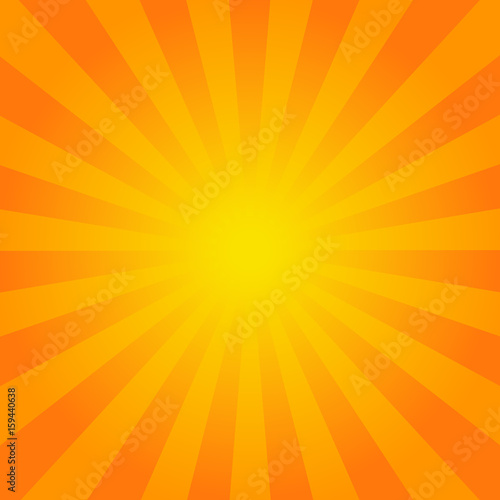 Bright orange rays background. - 159440638