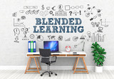 Blended Learning  / Office / Wall / Symbol - 159443050