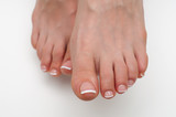 French classic pedicure on square form