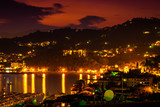 Night landscape view of Lerici, Liguria, Italy.
